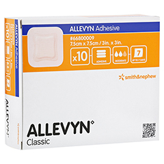 ALLEVYN Adhesive 7,5x7,5 cm hydrozell.Verband 10 Stück