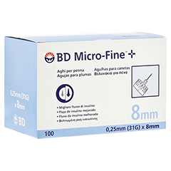 BD MICRO-FINE+ Pen-Nadeln 0,25x8 mm 100 Stück