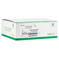Insulin EinmalSpritzen U40 o.Kanüle 100x1 Milliliter