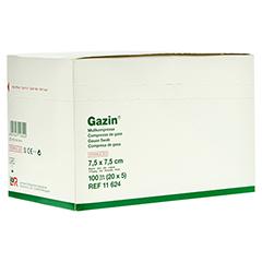 GAZIN Mullkomp.7,5x7,5 cm steril 8fach 20x5 Stück