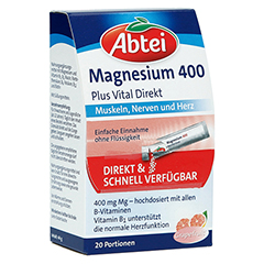 Abtei Magnesium 400 + Vitamin B Komplex Granulat 20 Stück