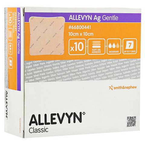 ALLEVYN Ag Gentle 10x10 cm Wundverband 10 Stück