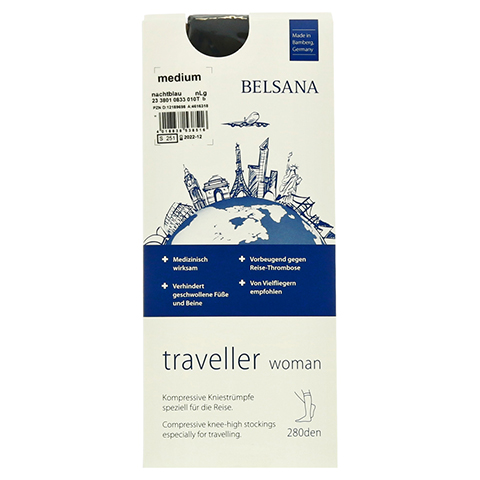 BELSANA traveller woman AD normal M nachtblau 2 Stück