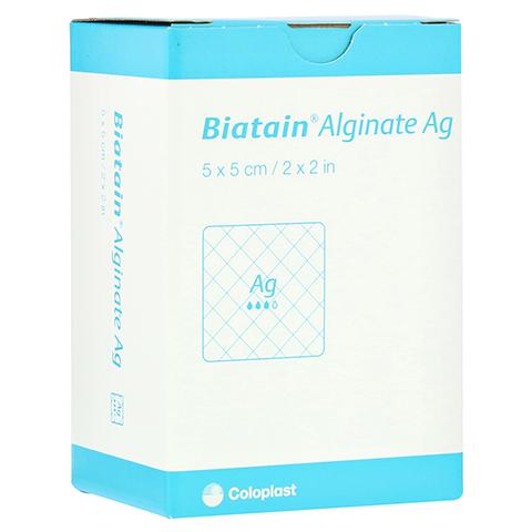 BIATAIN Alginate Ag Kompressen 5x5 cm mit Silber 30 Stück