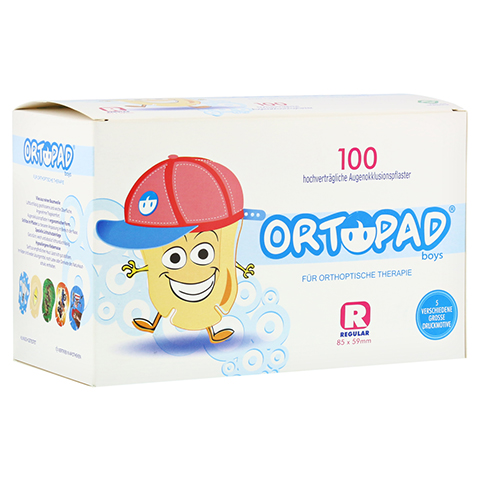 ORTOPAD for boys regular Augenokklusionspflaster 100 Stück