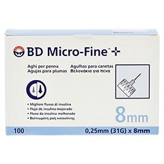 BD MICRO-FINE+ Pen-Nadeln 0,25x8 mm 100 Stück - Vorderseite