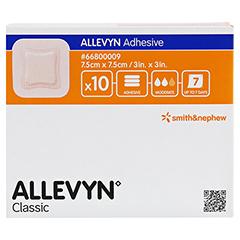 ALLEVYN Adhesive 7,5x7,5 cm hydrozell.Verband 10 Stück - Vorderseite