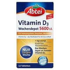 Abtei Vitamin D3 Wochendepot 5.600 I.E. 12 Stück - Vorderseite