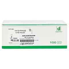 Insulin EinmalSpritzen U40 o.Kanüle 100x1 Milliliter - Vorderseite