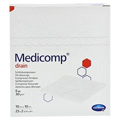 MEDICOMP Drain Kompressen 10x10 cm steril 25x2 Stück - Vorderseite