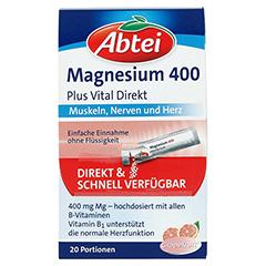 Abtei Magnesium 400 + Vitamin B Komplex Granulat 20 Stück - Vorderseite