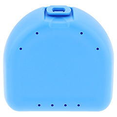 PROTHESEN ZAHNSPANGENBOX universal hellblau 1 Stück - Vorderseite