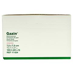 GAZIN Mullkomp.7,5x7,5 cm steril 8fach 20x5 Stück - Vorderseite