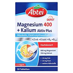 Abtei Magnesium+kalium Depot Tabletten 30 Stück - Vorderseite