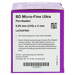 BD MICRO-FINE ULTRA Pen-Nadeln 0,25x5 mm 100 Stück - Linke Seite