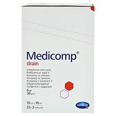 MEDICOMP Drain Kompressen 10x10 cm steril 25x2 Stück - Linke Seite