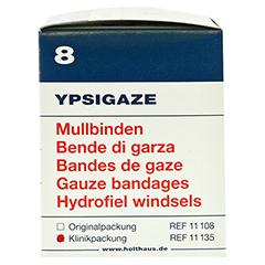 YPSIGAZE Mullbinde 8 cmx4 m 20 Stück - Linke Seite