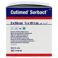 CUTIMED Sorbact Tamponaden 2x50 cm 20 Stück - Linke Seite