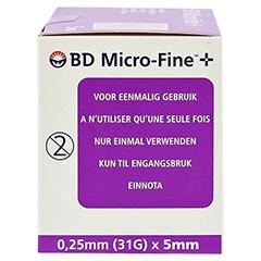 BD MICRO-FINE ULTRA Pen-Nadeln 0,25x5 mm 100 Stück - Rechte Seite