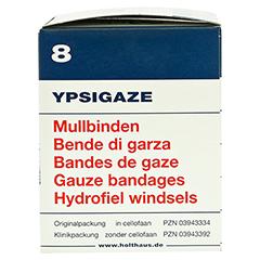 YPSIGAZE Mullbinde 8 cmx4 m 20 Stück - Rechte Seite