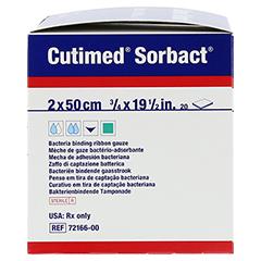 CUTIMED Sorbact Tamponaden 2x50 cm 20 Stück - Rechte Seite