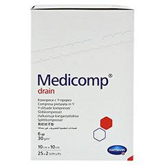 MEDICOMP Drain Kompressen 10x10 cm steril 25x2 Stück - Rechte Seite