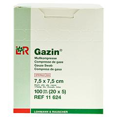 GAZIN Mullkomp.7,5x7,5 cm steril 8fach 20x5 Stück - Rechte Seite
