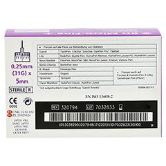 BD MICRO-FINE ULTRA Pen-Nadeln 0,25x5 mm 100 Stück - Rückseite