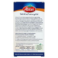 ABTEI Vitamin D3 (Forte Wochendepot) 12 Stück - Rückseite
