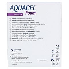 AQUACEL Foam adhäsiv 10x10 cm Verband 10 Stück - Rückseite