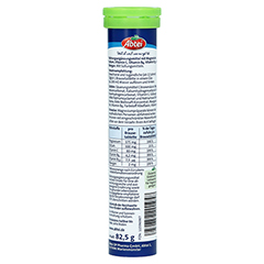 ABTEI Magnesium+Kalium Aktiv Plus Brausetabletten 15 Stück - Rückseite