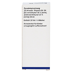 BRYONIA D 6 Dilution 50 Milliliter N1 - Rückseite