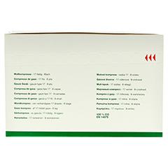 GAZIN Mullkomp.7,5x7,5 cm steril 8fach 20x5 Stück - Rückseite