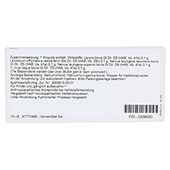 LARYNX COMP. Ampullen 10x1 Milliliter N1 - Rückseite