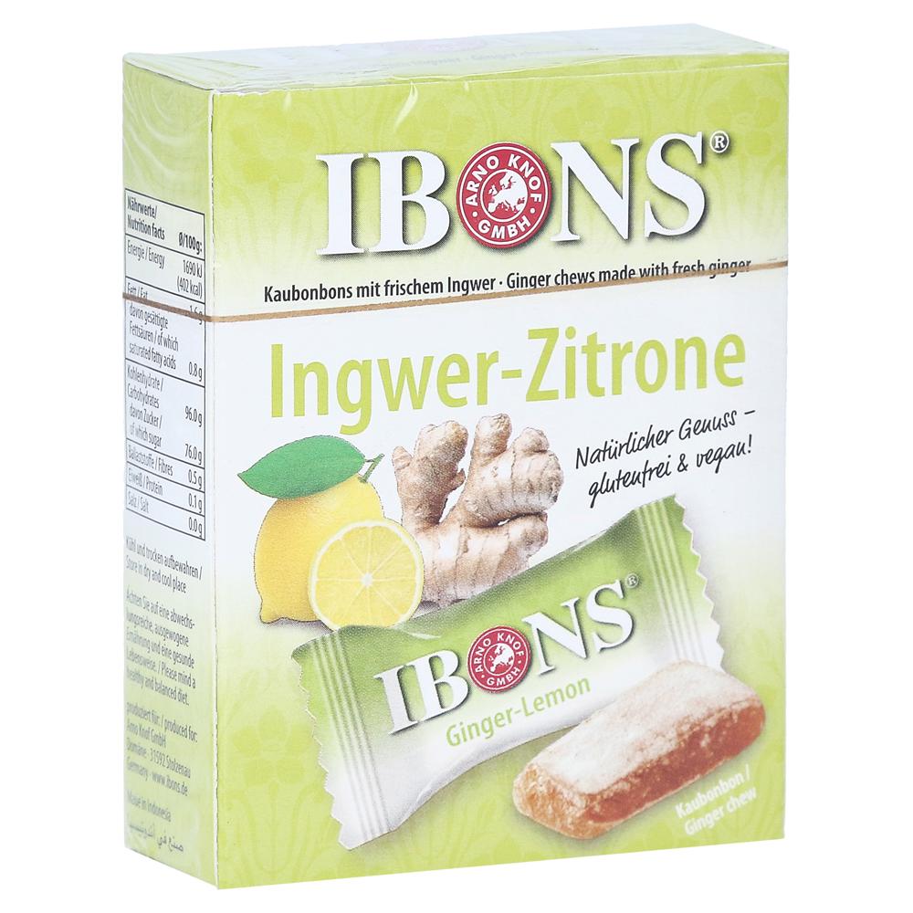 ibons-zitrone-ingwerkaubonbons-schachtel-60-gramm
