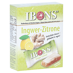 Ibons Zitrone Ingwerkaubonbons Schachtel 60 Gramm