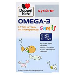 Doppelherz system Omega-3 Family Gel-Tabs mit Zitronengeschmack 60 Stück - Vorderseite