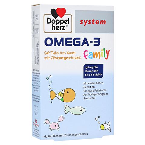 Doppelherz system Omega-3 Family Gel-Tabs mit Zitronengeschmack 60 Stück