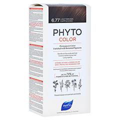 PHYTOCOLOR 6.77 HELLBRAUN CAPPUCINO Pflanzliche Haarcoloration 1 Stück