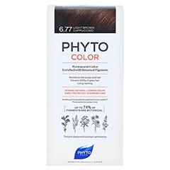 PHYTOCOLOR 6.77 HELLBRAUN CAPPUCINO Pflanzliche Haarcoloration 1 Stück - Vorderseite