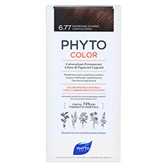 PHYTOCOLOR 6.77 HELLBRAUN CAPPUCINO Pflanzliche Haarcoloration 1 Stück - Rückseite