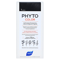 PHYTOCOLOR 1 schwarz ohne Ammoniak 1 Stück - Rückseite