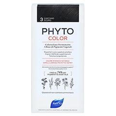 PHYTO Phytocolor Permanente Coloration 3 dunkelbraun 1 Stück - Rückseite