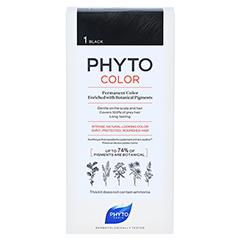 PHYTOCOLOR 1 schwarz ohne Ammoniak 1 Stück - Vorderseite