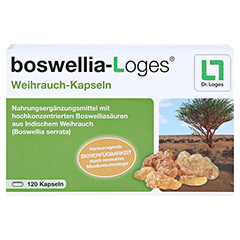 BOSWELLIA-LOGES Weihrauch-Kapseln 120 Stück - Vorderseite