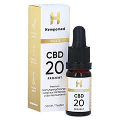 HEMPAMED Gold CBD Öl 20% 2000 mg Tropf.z.Einnehmen 10 Milliliter