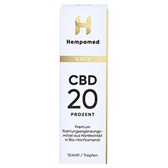 HEMPAMED Gold CBD Öl 20% 2000 mg Tropf.z.Einnehmen 10 Milliliter - Vorderseite
