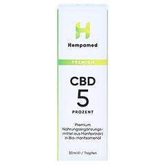 HEMPAMED Premium CBD Öl 5% 1500 mg Tropfen z.Einn. 30 Milliliter - Vorderseite