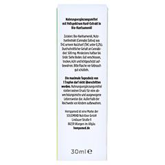 HEMPAMED Premium CBD Öl 5% 1500 mg Tropfen z.Einn. 30 Milliliter - Rückseite