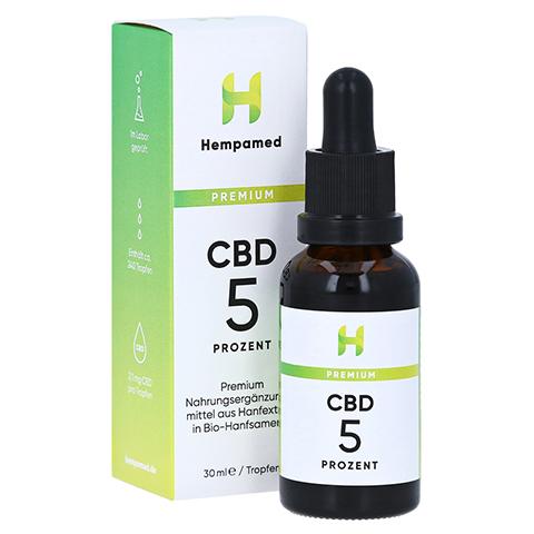 HEMPAMED Premium CBD Öl 5% 1500 mg Tropfen z.Einn. 30 Milliliter